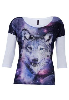 Blusa Miss Tess Couture Wolf Branca - Miss Tees Couture
