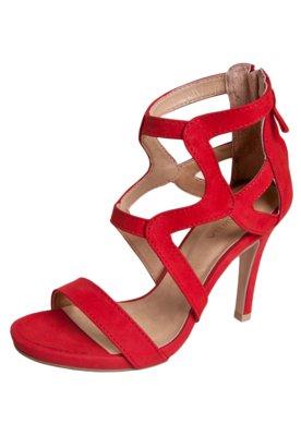 Sandália Andarella Salto Alto Vermelha