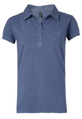 Camisa Polo Jeannine Azul   - Billabong