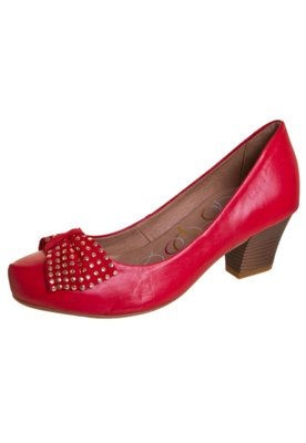 Sapato Scarpin Bottero Laço Hotfix Vermelho