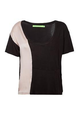 Blusa Recorte Marrom - Espaço Fashion