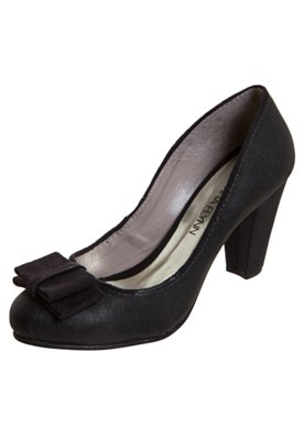Sapato Scarpin Anna Flynn Laço Duplo Preto