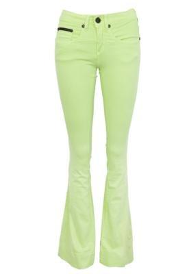 Calça Sarja Calvin Klein Jeans Boca de Sino Super Verde