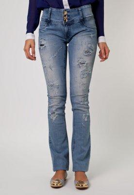 Calça Jeans Lança Perfume Flare Citric Azul