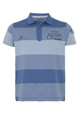 Camisa Polo Gangster Escudo Azul