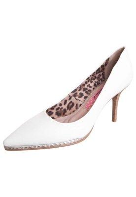 Sapato Scarpin Miucha Bico Fino Meia Pata Fina Branco