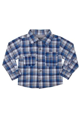 Camisa Up Kids Bolsos Xadrez