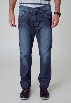 Calça Jeans Fatal Surf Reta Bigode Azul