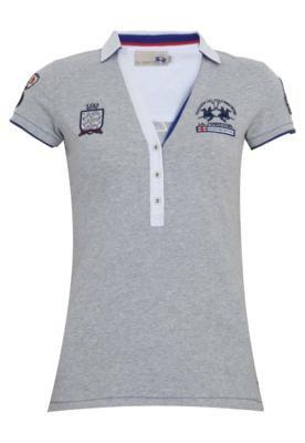Camisa Polo La Martina Polito Cinza