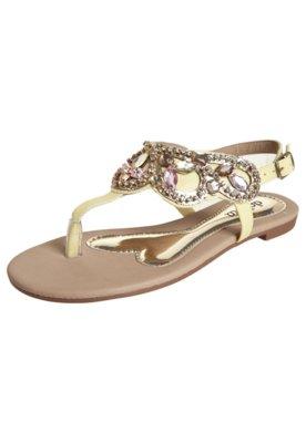 Sandália Dakota Strass Amarela