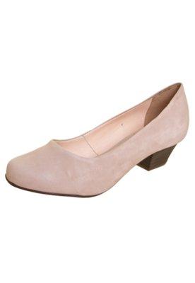 Sapato Scarpin Bottero Salto Baixo Básico Bege