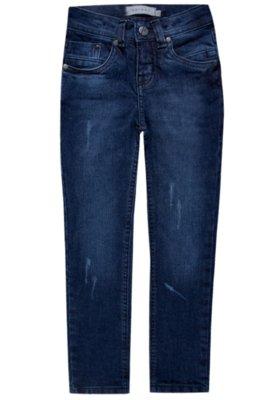 Calça Jeans Skinny Puídos Azul - VR KIDS