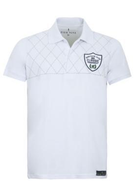 Camisa Polo Pier Nine Bordado Branca