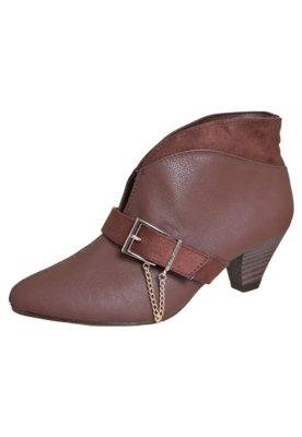 Ankle Boot Fivela Marrom - Beira Rio