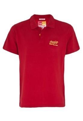 Camisa Polo Coca-Cola Clothing Brasil Bordado Marca Vermelha...