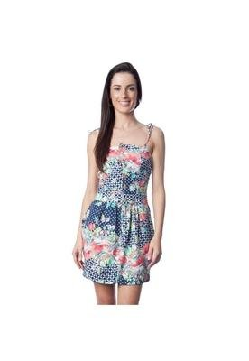 Vestido Ponteiras Multicolorido - Kodifik