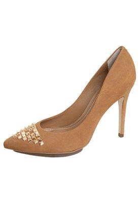 Sapato Scarpin Dumond SPikes Pirâmides Bege