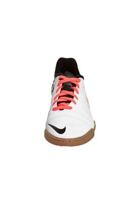 Chuteira Futsal Nike CTR360 Enganche III IC Branca/Laranja/P...