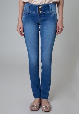 Calça Jeans Sawary Skinny Glam Azul