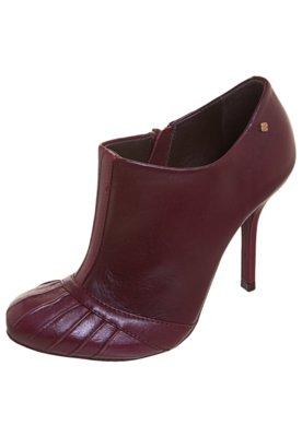 Ankle Boot Recortes Vinho - Capodarte
