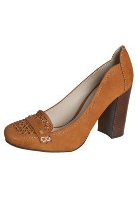 Sapato Scarpin Capodarte Salto Médio Grosso Caramelo
