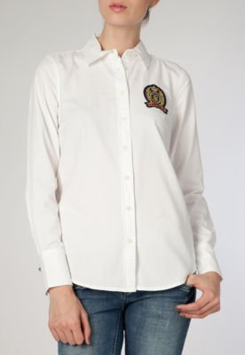 Camisa Polo Tommy Hilfiger Gracie Patch Oxford Branca