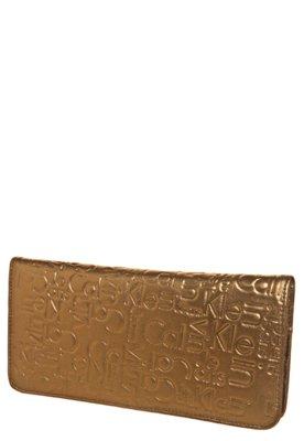 Carteira Calvin Klein Estampa Prensada Dourada