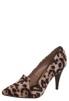 Sapato Scarpin FiveBlu Bico Fino Slipper Onça