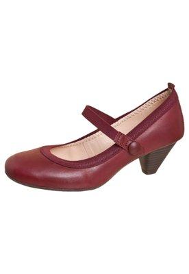 Sapato Scarpin Bottero Salto Baixo Mary Jane Vinho