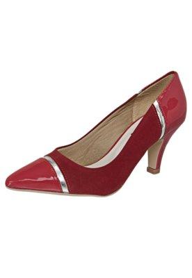 Sapato Scarpin Anna Flynn Cap Toe Vermelho