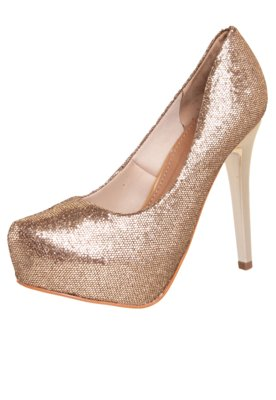 Sapato Scarpin FiveBlu Dive Dourado