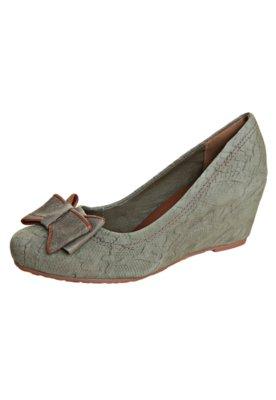 Sapato Scarpin Dakota Laço Snake Verde