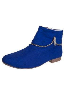 Bota FiveBlu Zíper Azul