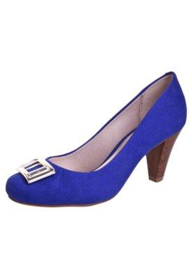 Sapato Scarpin Beira Rio Salto Alto Ferragem Azul