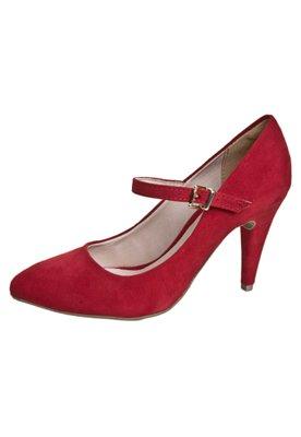 Sapato Scarpin Pink Connection Mary Jane Vermelho