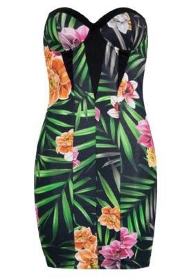 Vestido Small Recortes Print Floral - Coca Cola Clothing