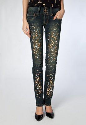 Calça Jeans Carmim Skinny Paris Karen Azul