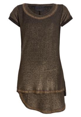 Vestido Andrea Bogosian Shall Dourado