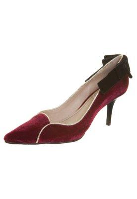 Sapato Scarpin Veludo Vinho - Miucha