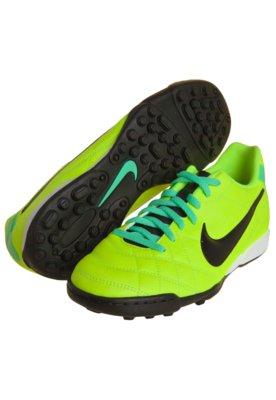 Chuteira Society Nike Tiempo Rio TF Amarela