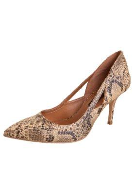 Sapato Scarpin Anna Flynn Vazado Bege