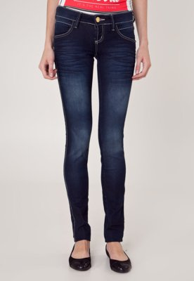 Calça Jeans Coca-Cola Clothing Skinny Kate Pesponta Azul - ...