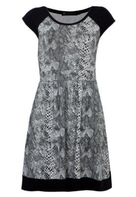 Vestido Anna Flynn Print Cinza