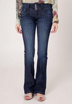 Calça Jeans Cantão Flare Fashion Azul