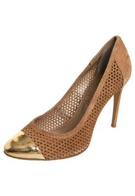 Sapato Scarpin Lilly's Closet Corpo Vazado Marrom