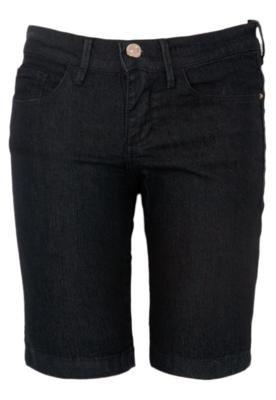Bermuda Jeans Iódice Denim Donna Preta