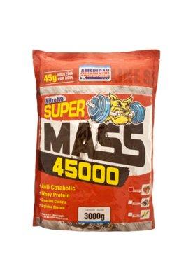Suplemento American Line Super mass Nitro NO2 Morango 3kg