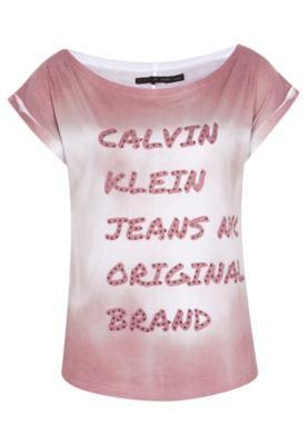 Blusa Calvin Klein Jeans Brand Marrom