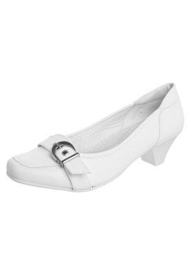 Sapato Scarpin Anna Flynn Fivela Branco