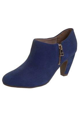 Ankle Boot Ramarim Zíper Azul
